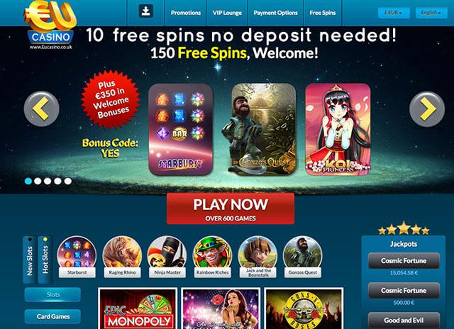 EU Casino Homepage Screenshot-PLAY HERE